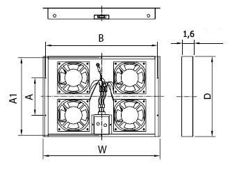Вентиляционная панель для шкафов серии TSC