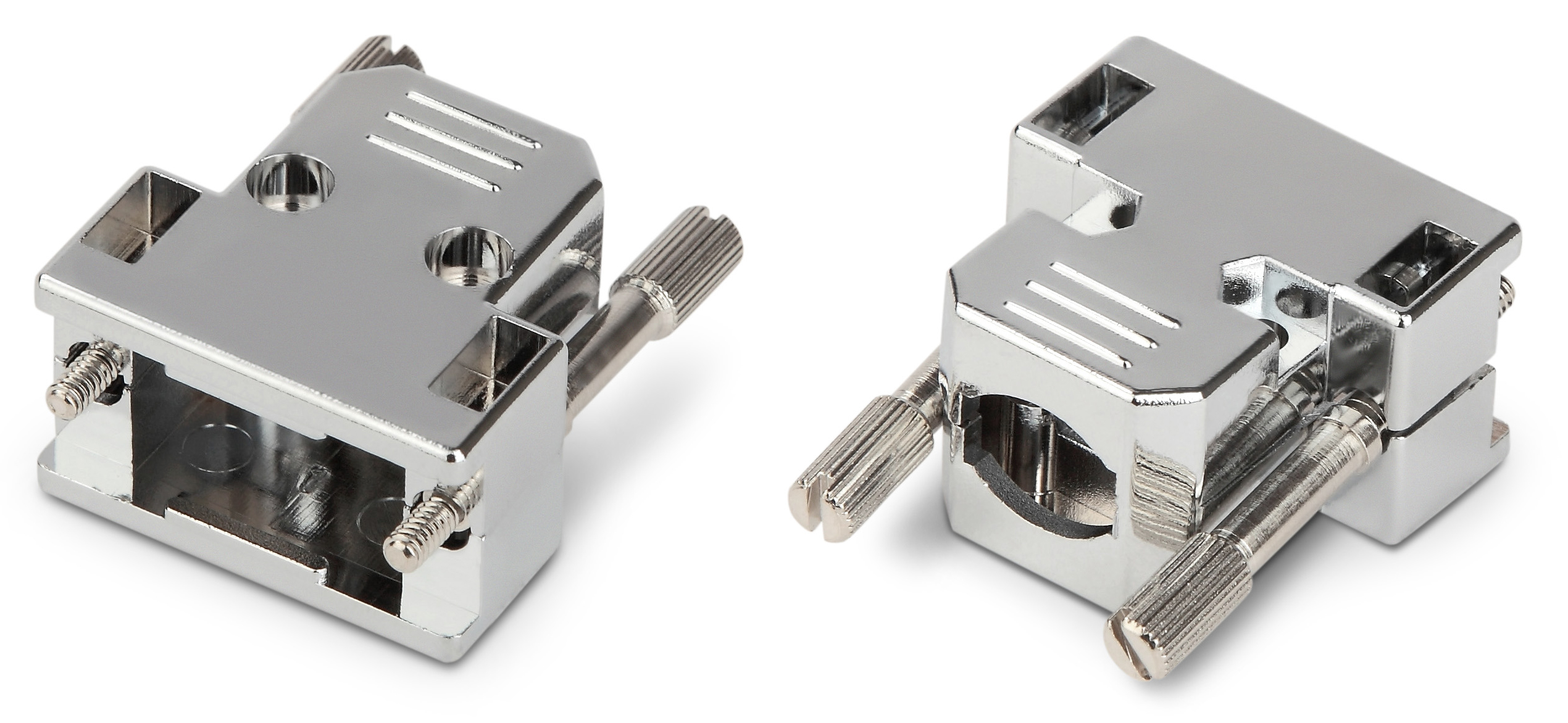 Корпус защитный для разъема D-SUB, 9 контактов, с удлиненными винтами