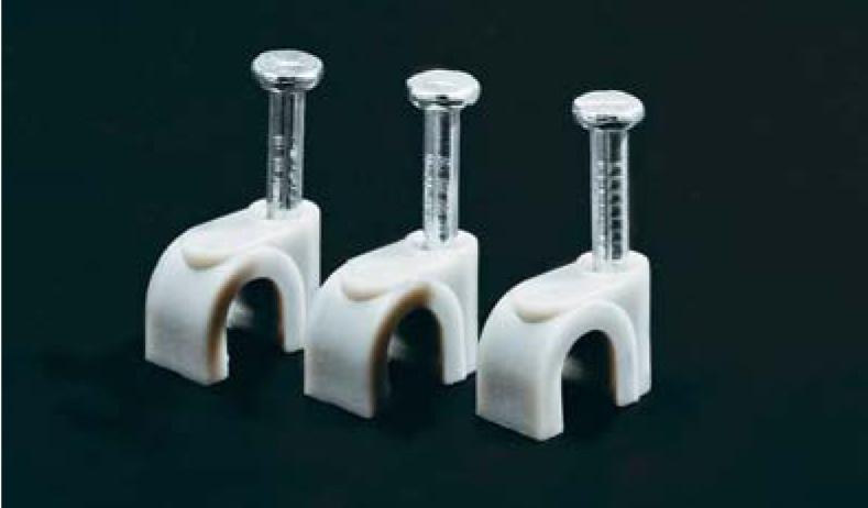 Скобы пластиковые с гвоздем (GC)