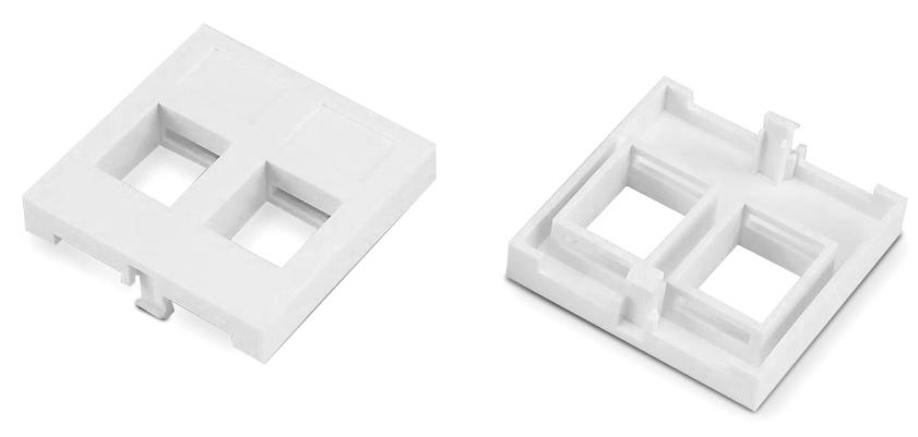 Вставка 45x45 (аналог Mosaic) для 2х модулей формата Keystone Jack