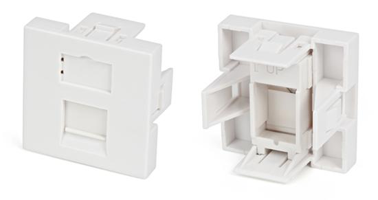 Вставка 45x45 для 1 модуля формата Keystone Jack