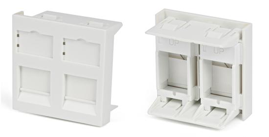 Вставка 45x45 для 2х модулей формата Keystone Jack