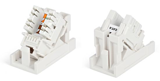 Вставка угловая 45x22,5 с модулем категории 6