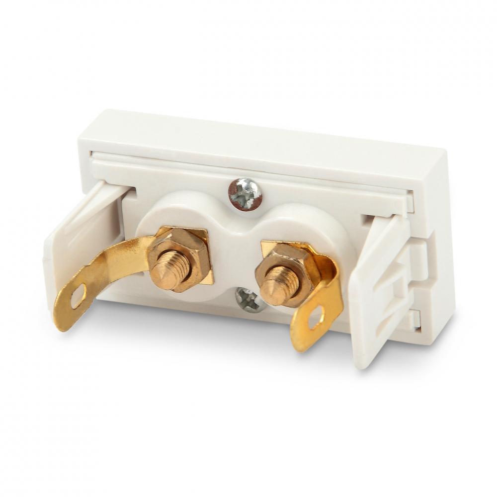 Модуль розетки Hi-Fi, 2 порта, 1М, 45x22.5мм, белый