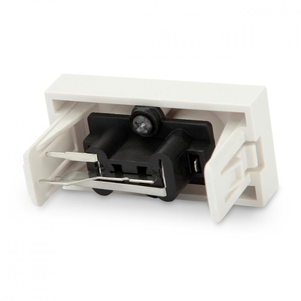 Модуль розетки 2xRCA разъема , 1М, 45x22.5мм, белый