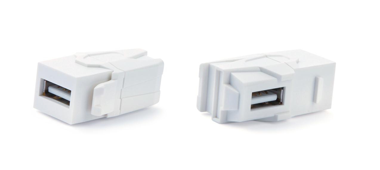 Вставка формата Keystone Jack с проходным адаптером USB 3.0 (Type A)