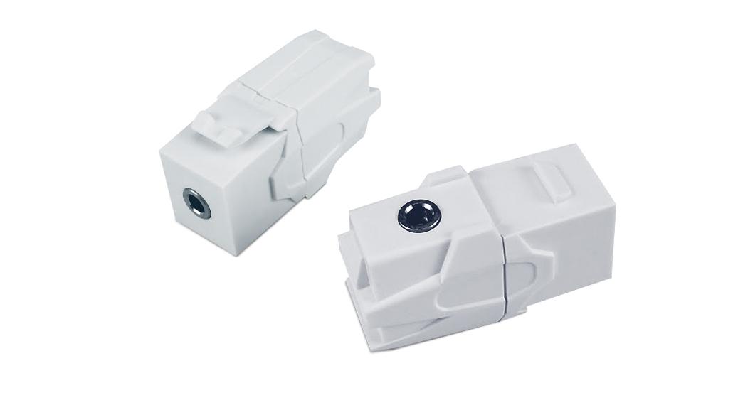 Вставка формата Keystone Jack с проходным адаптером TRS 3.5 мм