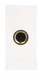 Модуль розетки Jack 6.35 мм (speaker socket), 1М, 45x22.5мм, белый
