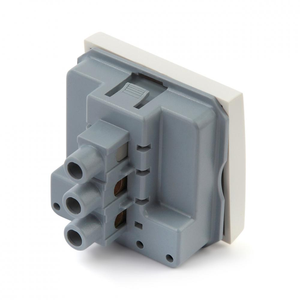 Выключатель, 2М, 45x45 мм, белый