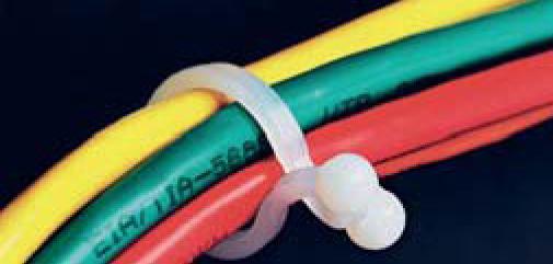Зажимы для обвязки пучков кабелей, с зажимом-скруткой